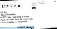Mega litemenu menu dropdown animated