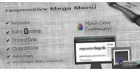 Mega responsive menu