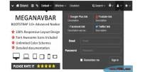 Meganavbar. advanced navbar for 3.0 bootstrap