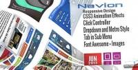 Metro navion navigation switcher accordion menu