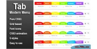 Modern tab css3 menu