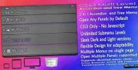 Css3 multi level accordion menu tree and
