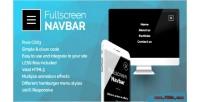 Navbar fullscreen