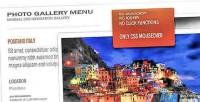 Photo css gallery menu