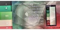 Responsive clean side menu