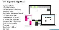 Responsive css3 mega menu down drop