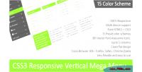 Responsive css3 menu mega vertical