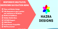 Responsive css3 multilevel menu navigation dropdown
