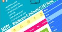 Responsive medi menu css3 animated