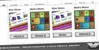 Responsive meganizr menu mega css3