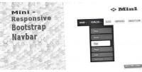 Responsive mini bootstrap navbar