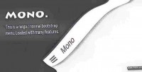 Responsive mono bootstrap menu mega fixed