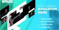 Responsive navik menu navigation header