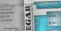 Responsive negar vertical menu horizontal and