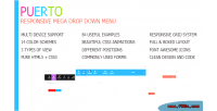 Responsive puerto mega menu down drop