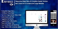 Responsive renesa mega menu with complete solution header for e lar & commerce