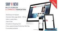 Shop menu creative e commerce bootstrap html menu mega