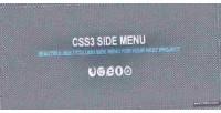 Side css3 menu
