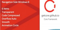 Side navigation windows 8