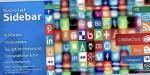 Social sidebar css social icons with bar