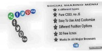 Social css3 sharing menu