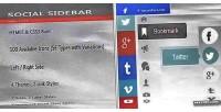 Social css3 sidebar