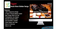 Social super share sidebar