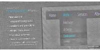Transparent minimal menu