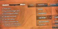 Transparent modern menu