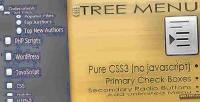 Tree css3 menu