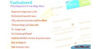 Varicolored css3 responsive e menu mega com