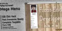 Vertical click menu mega responsive