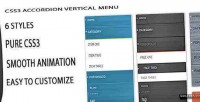 Vertical css3 menu navigation accordion