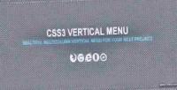 Vertical css3 menu