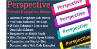 Website perspective logo menu navigation
