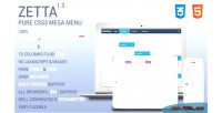 Zetta menu css3 mega menu down drop