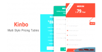 Advanced kinbo tables pricing bootstrap