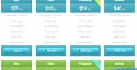 Bootstrap modern pricing table