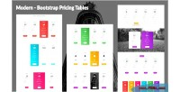 Bootstrap modern pricing tables