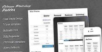 Clean responsive tables pricing simple