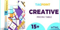 Creative tagpoint table pricing responsive