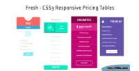 Css3 fresh tables pricing responsive