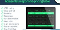 Flat ablaze table pricing responsive