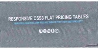 Flat css3 pricing tables