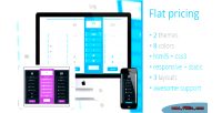 Flat pricing table 2 colors 8 themes