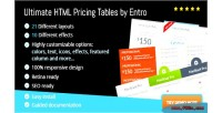 Html ultimate pricing entro by tables