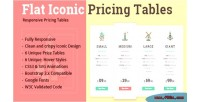 Iconic flat pricing tables