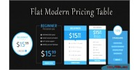Modern flat css3 table pricing