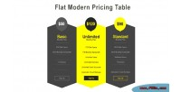Modern flat pricing table