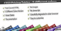 Pricing css3 tables colors different 9